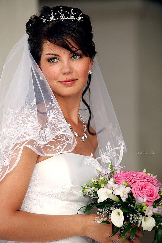 Фото прическа на свадьбу на средние волосы