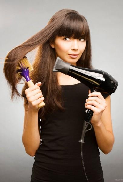 Укладки волос феном картинки