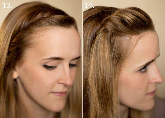 Как закалывать челку с распущенными волосами