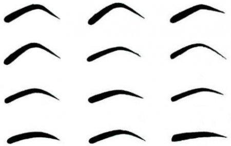 Какие есть формы бровей
