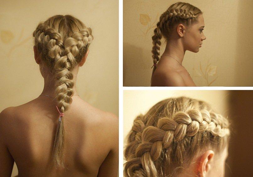 Красиво заплетенные волосы