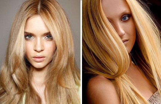 Блондинки с желтым оттенком волос