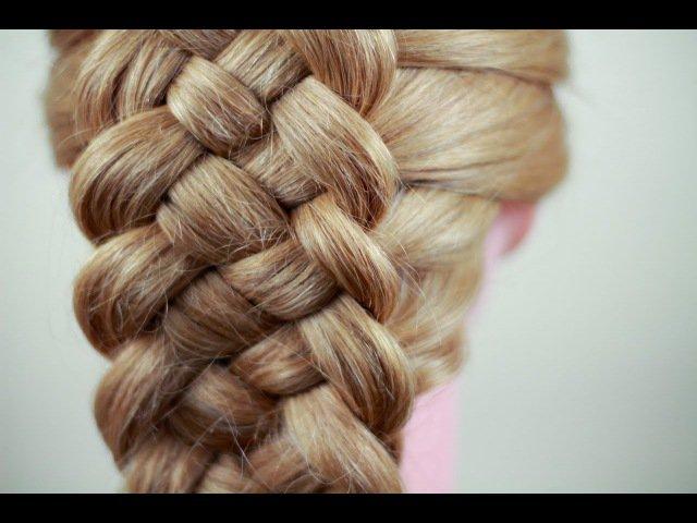 Французская коса из 5 прядей;