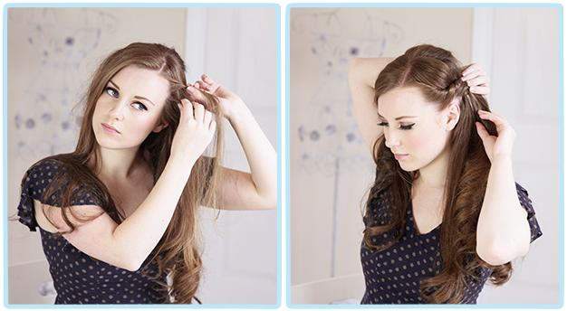 Романтическая прическа на длинные волосы