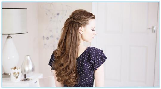 Прически с распущенными волосами на каждый день