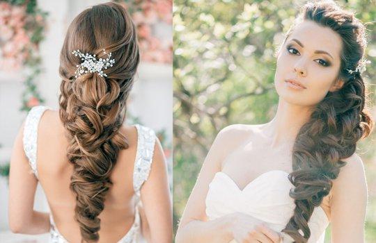 Свадебные прически-коса