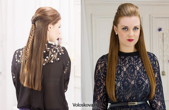 Прическа с длинными волосами прямыми
