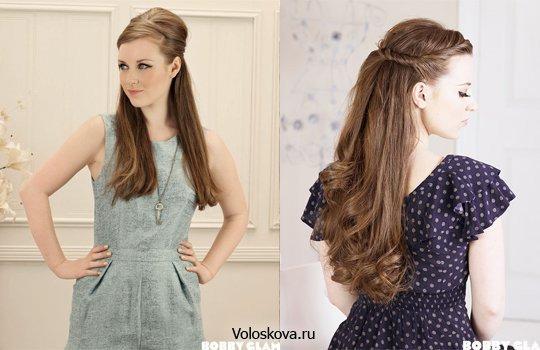 Простые прически на длинный волос