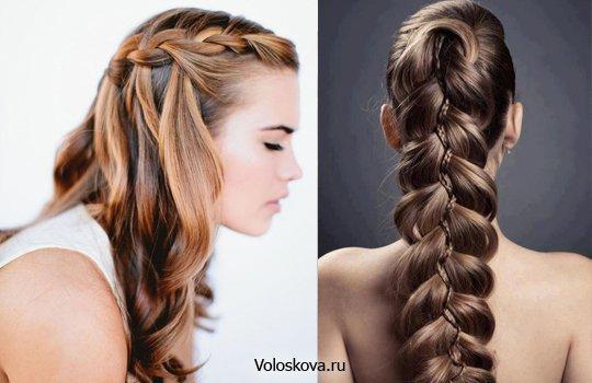 Заплетенные прически на длинные волосы