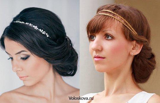 Прическа в греческом стиле на длинные волосы для девочек