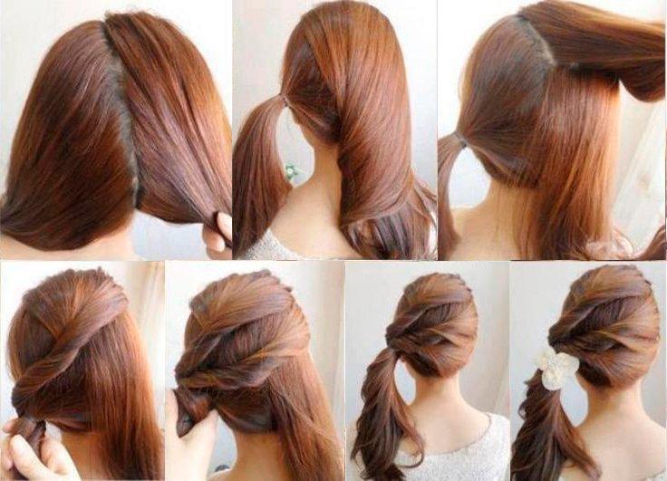 Прически на длинные волосы видео уроки для начинающих