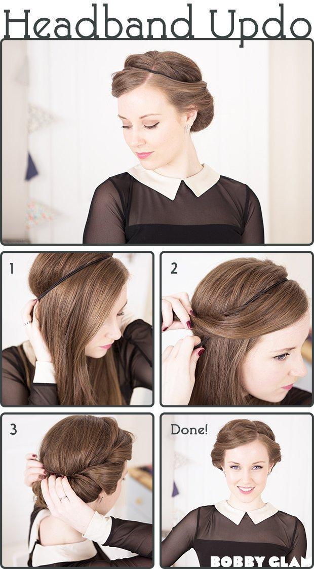 Как можно сделать прическу с повязкой