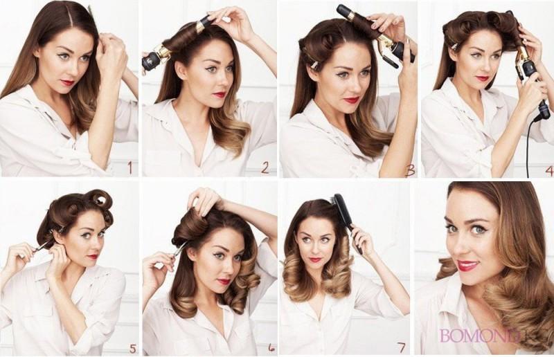 Как сделать прически с локонами на средние волосы