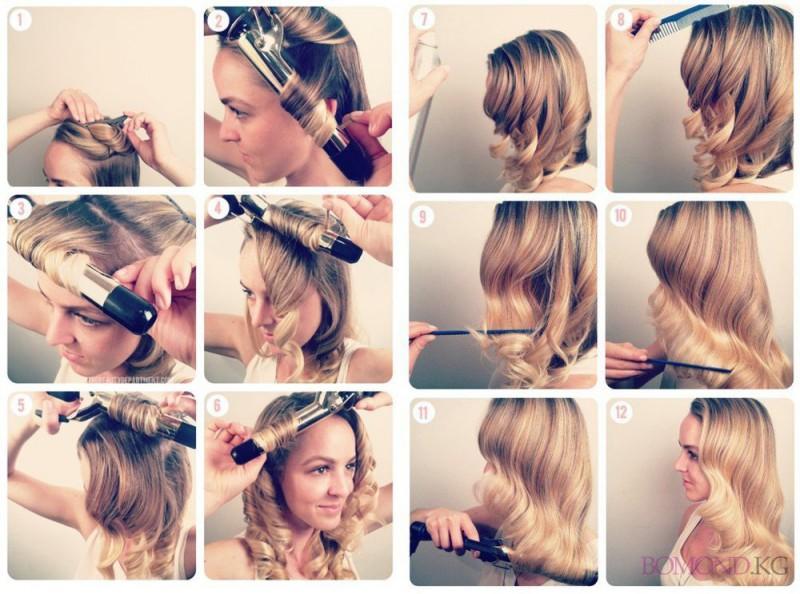 прически на волосы средние волосы пошагово фото