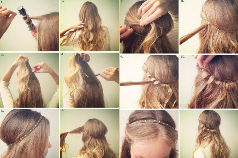 Видео прически на средний волос