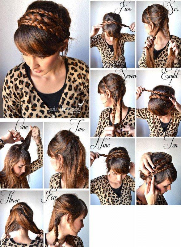 Прически с косами своими руками