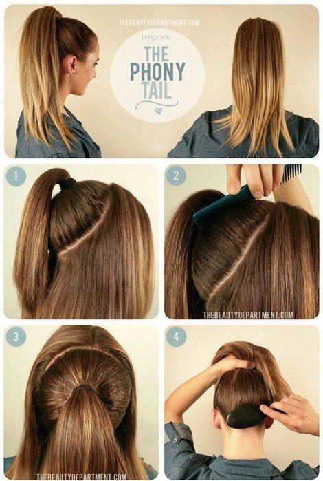 Как сделать бант из длинных и густых волос
