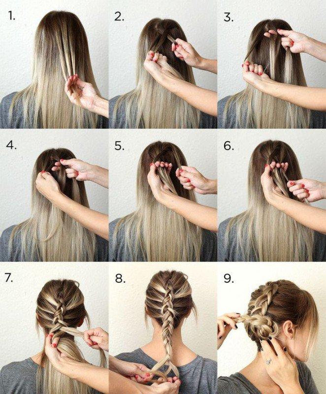 Легкая прическа на средние волосы своими руками