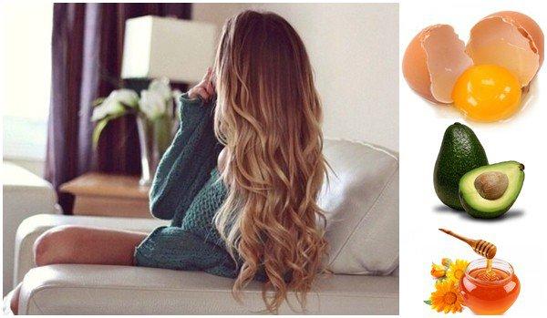 Маска для волос против ломкости и выпадения