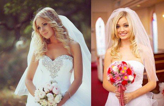 Свадебные прически с фатой распущенные длинные волосы фото