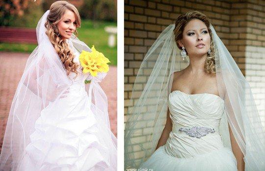 Прически свадебные для длинной фаты