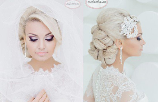 59b461eb59d Собранные волосы в дополнении со свадебными аксессуарами смотрятся изящно и  элегантно. Свадебные прически на длинные волосы - 250 актуальных фотографий