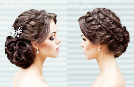 Причёска с плетением на длинные волосы фото