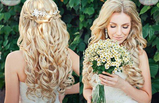 картинки свадебные прически на длинные волосы