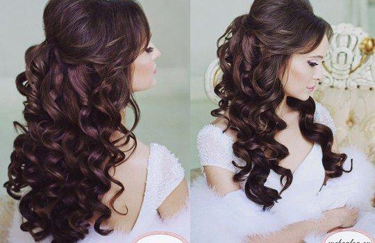Свадебные прически на длинные волосы с прядями