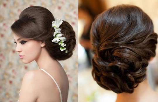 Лучшие свадебные прически на темные волосы
