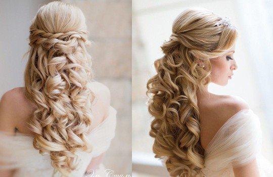 Вьющиеся волосы свадьба