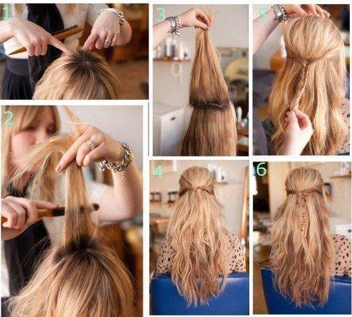 Прическа с распущенными волосами на 1 сентября