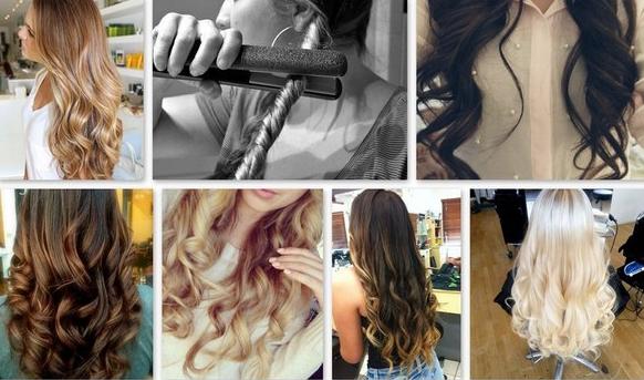 Как сделать красивые кудри на длинные волосы плойкой видео