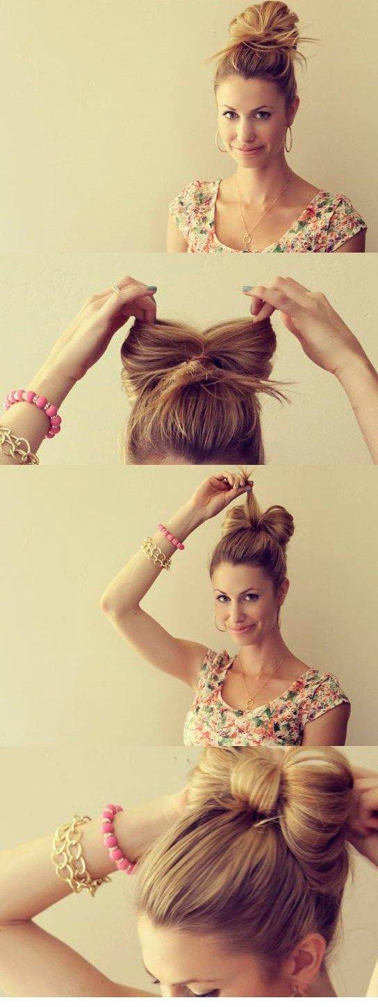 Быстрые прически на каждый день для средних волос своими руками фото