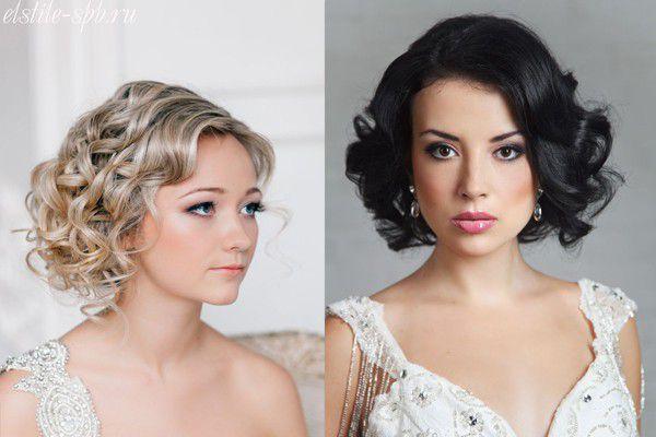 Свадебные прически на короткие волосы на видео