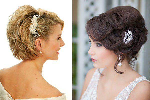 Как сделать прическу на свадьбу если волосы короткие