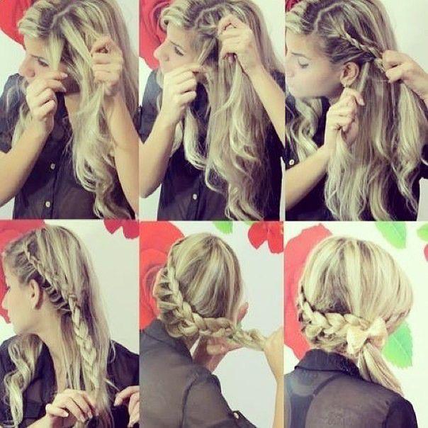 Плетение кос с боку