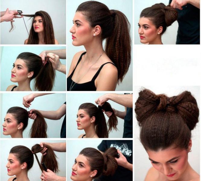 прически на средние волосы гофрирование