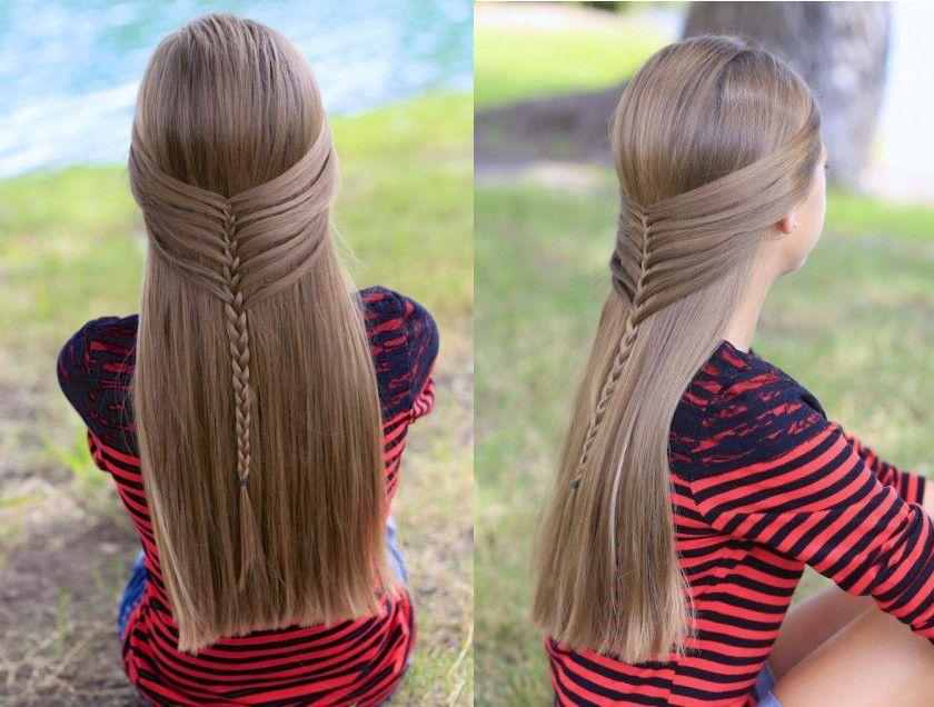 Прическа русалки на длинные волосы
