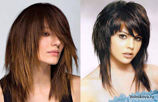 Смотреть модные стрижки на средние волосы с чёлкой