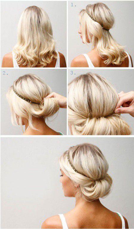 Прически на средние волосы за 5 минут