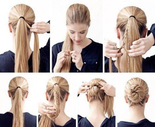 Прически в школу для длинных волос своими