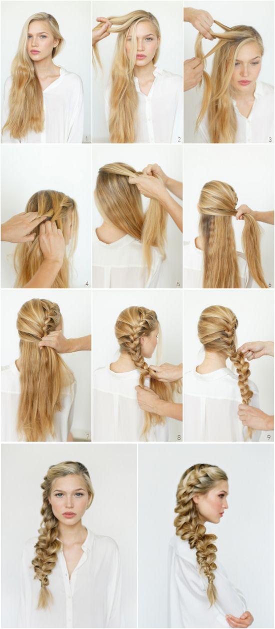 Прически на каждый день на средние волосы не густые