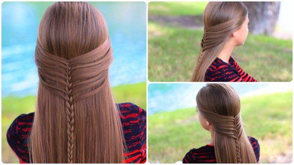 Как сделать красивую прическу для девочек с длинными волосами