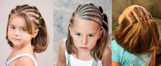 Смотреть причёски на короткие волосы для девочек