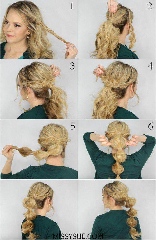Простые причёски на длинные волосы своими руками видео