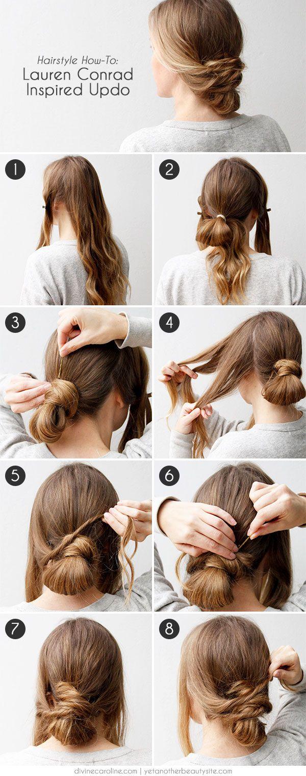 Просты прически на каждый день средней длины волос фото