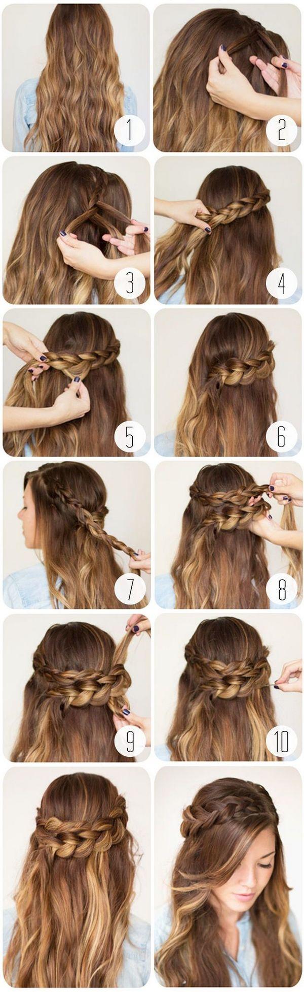 Прически на длинные волосы своими руками пошаговое фото для девочек фото 524