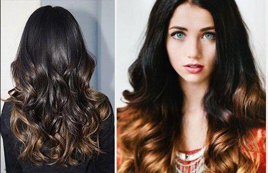 Темные волосы со светлыми кончиками