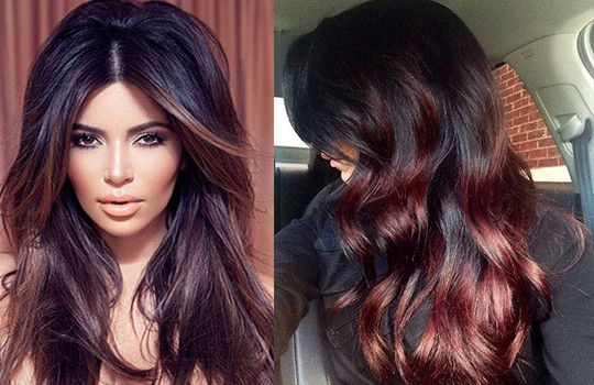 Мелирование на темные волосы - 200 фото! мелирование на темные волосы фото
